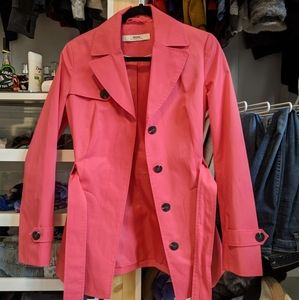 Salmon Short Trench Coat